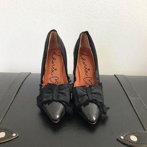 H&M x Lanvin Patin and Satin Ribbon Heels